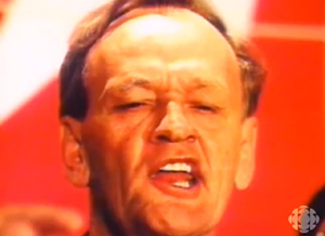 Showing Jean Chretien in ways that emphasized his facial paralysis, roundly criticized Tory ad of 1993 asked 'Is this a Prime Minister?'